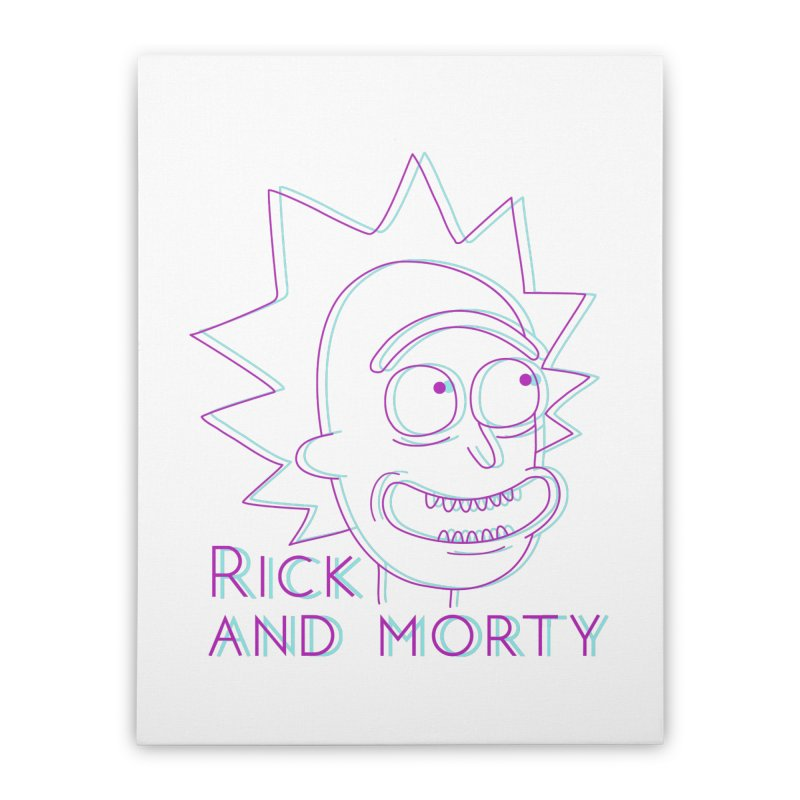 Rick Sanchez Portrait Home Stretched Canvas by Diardo's Design Shop