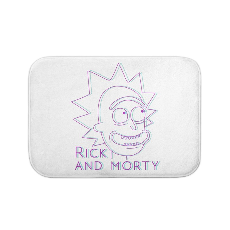 Rick Sanchez Portrait Home Bath Mat by Diardo's Design Shop