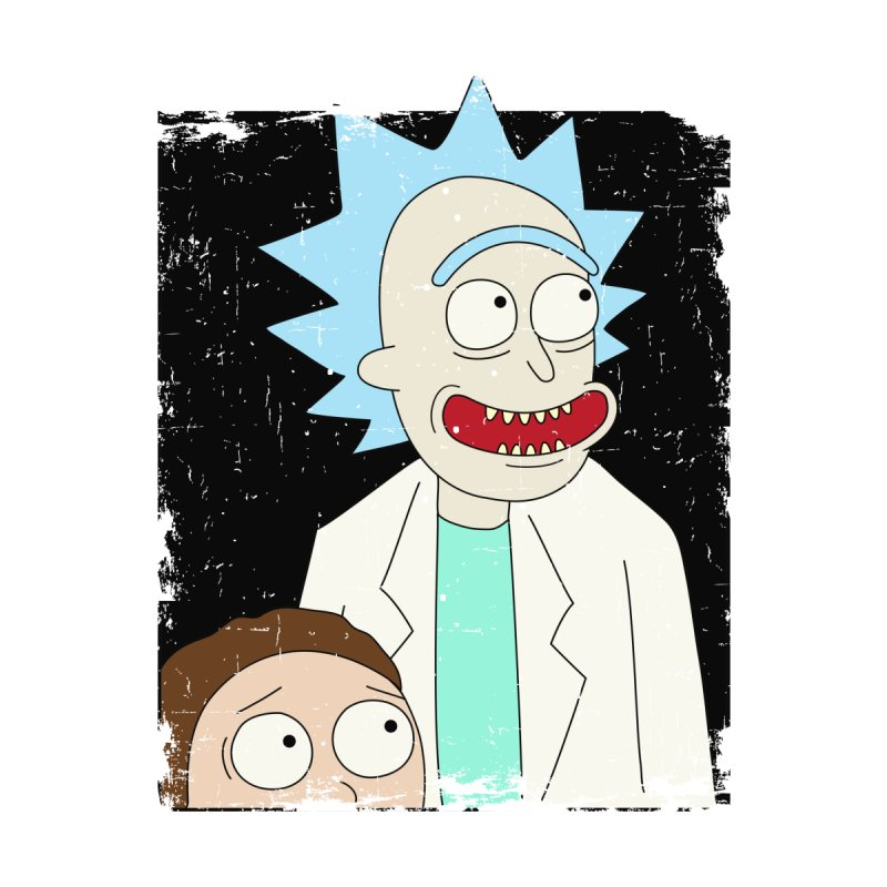 Rick and Morty Portrait Accessories Phone Case by Diardo's Design Shop
