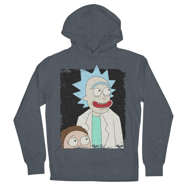 Rick and Morty Portrait Women's French Terry Pullover Hoody by Diardo's Design Shop