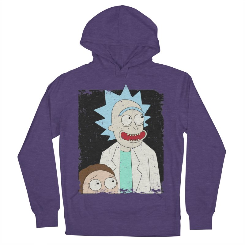 Rick and Morty Portrait Men's French Terry Pullover Hoody by Diardo's Design Shop