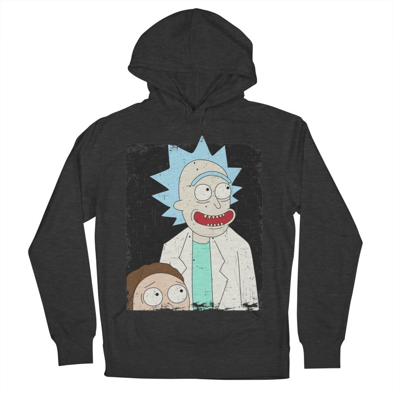 Rick and Morty Portrait Men's Pullover Hoody by Diardo's Design Shop