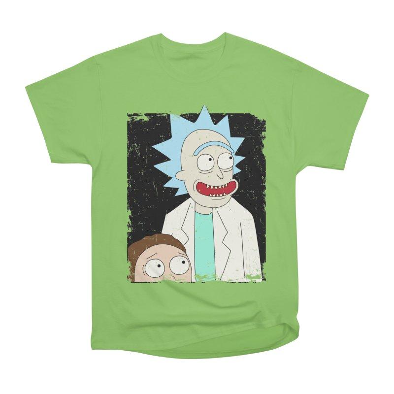 Rick and Morty Portrait Women's Heavyweight Unisex T-Shirt by Diardo's Design Shop