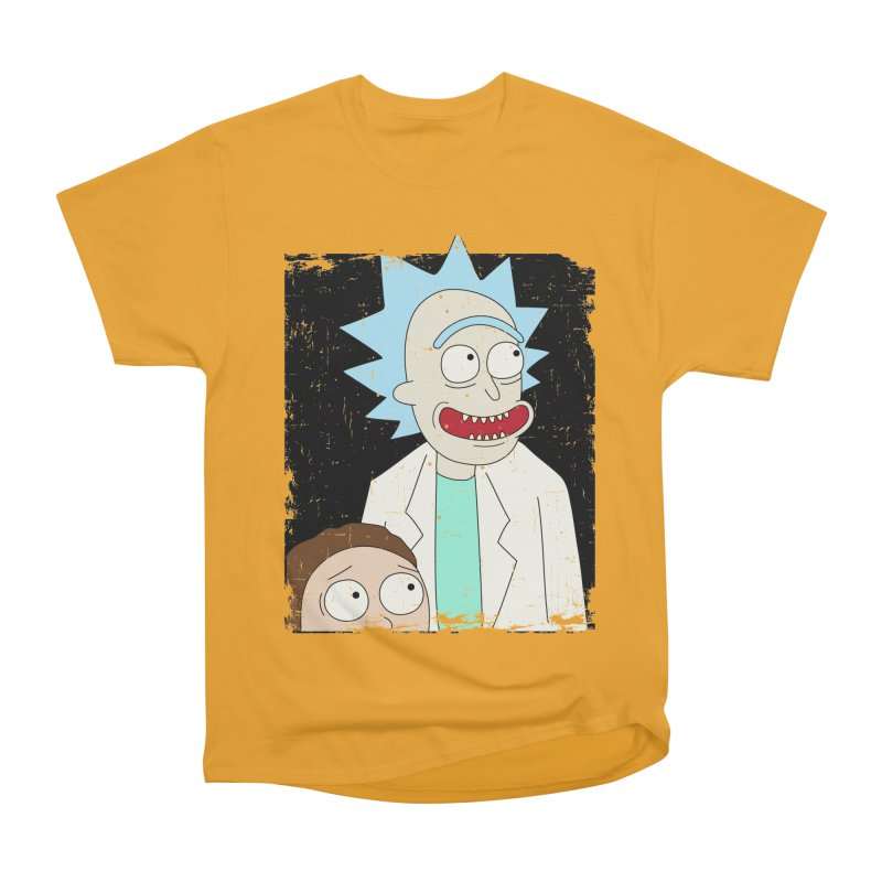 Rick and Morty Portrait Men's Heavyweight T-Shirt by Diardo's Design Shop