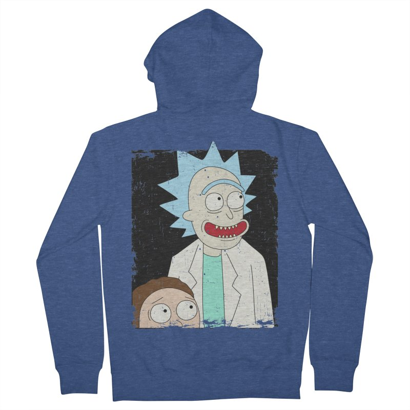 Rick and Morty Portrait Women's French Terry Zip-Up Hoody by Diardo's Design Shop