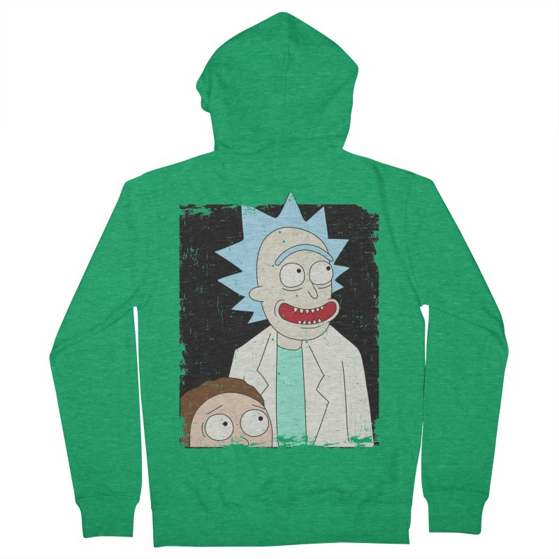 Rick and Morty Portrait Men's Zip-Up Hoody by Diardo's Design Shop