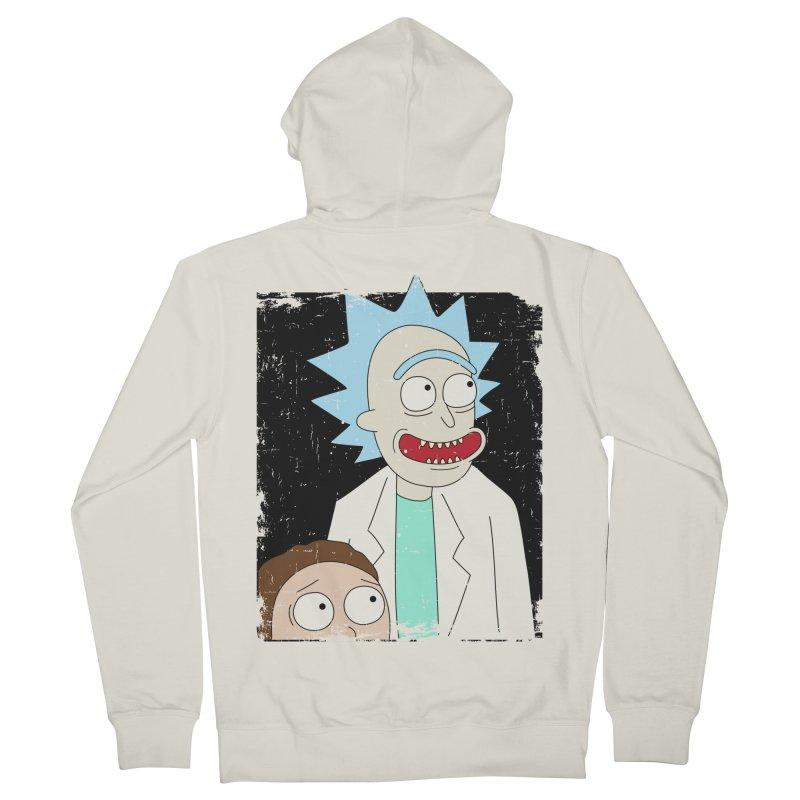 Rick and Morty Portrait Men's Zip-Up Hoody by Diardo's Design Shop