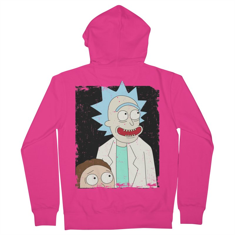 Rick and Morty Portrait Men's French Terry Zip-Up Hoody by Diardo's Design Shop