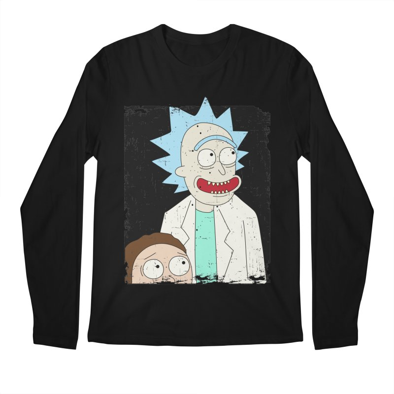 Rick and Morty Portrait Men's Regular Longsleeve T-Shirt by Diardo's Design Shop