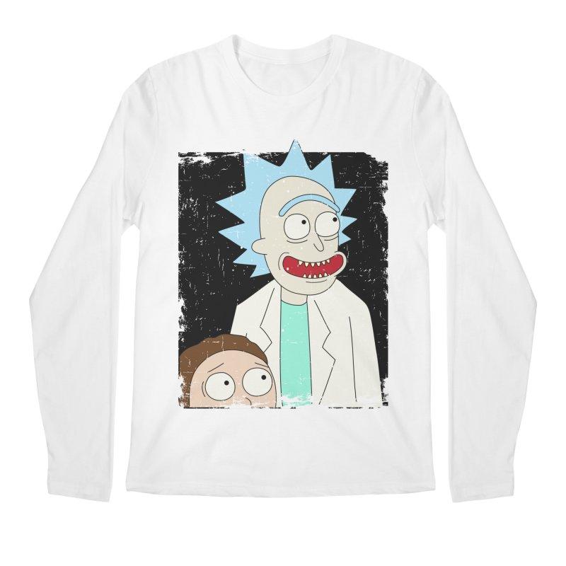 Rick and Morty Portrait Men's Regular Longsleeve T-Shirt by Diardo's Design Shop