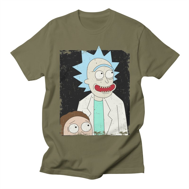 Rick and Morty Portrait Men's T-Shirt by Diardo's Design Shop
