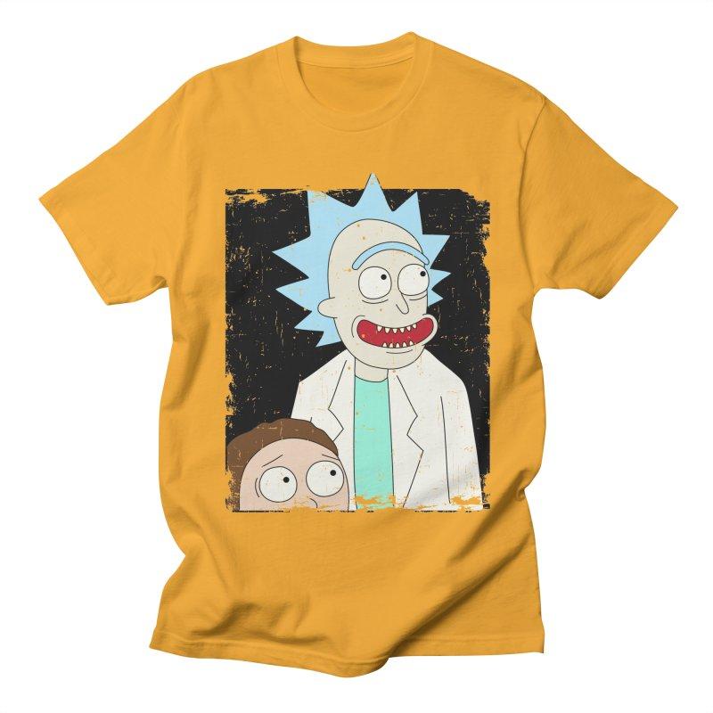 Rick and Morty Portrait Men's Regular T-Shirt by Diardo's Design Shop