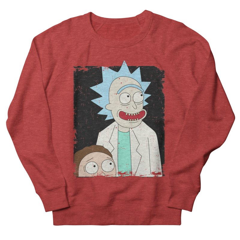 Rick and Morty Portrait Men's Sweatshirt by Diardo's Design Shop