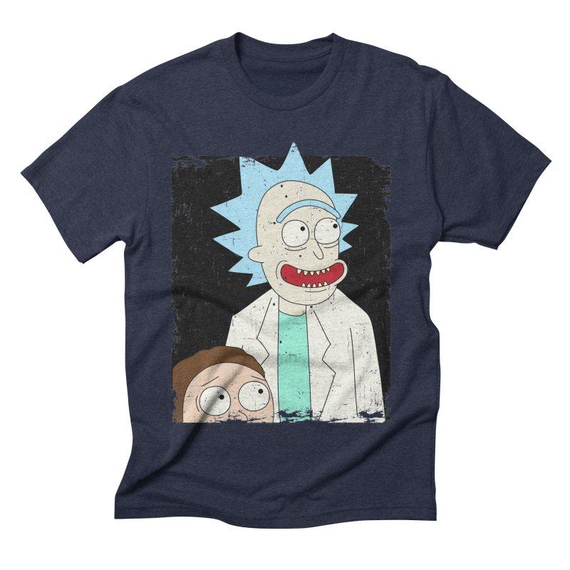 Rick and Morty Portrait Men's Triblend T-Shirt by Diardo's Design Shop
