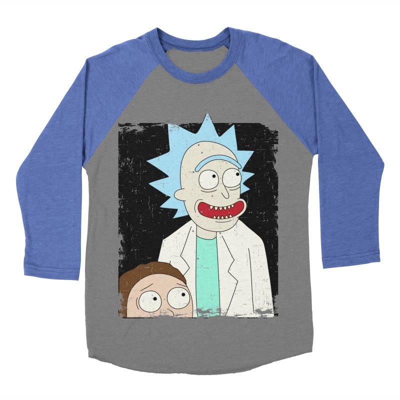 Rick and Morty Portrait Men's Baseball Triblend T-Shirt by Diardo's Design Shop