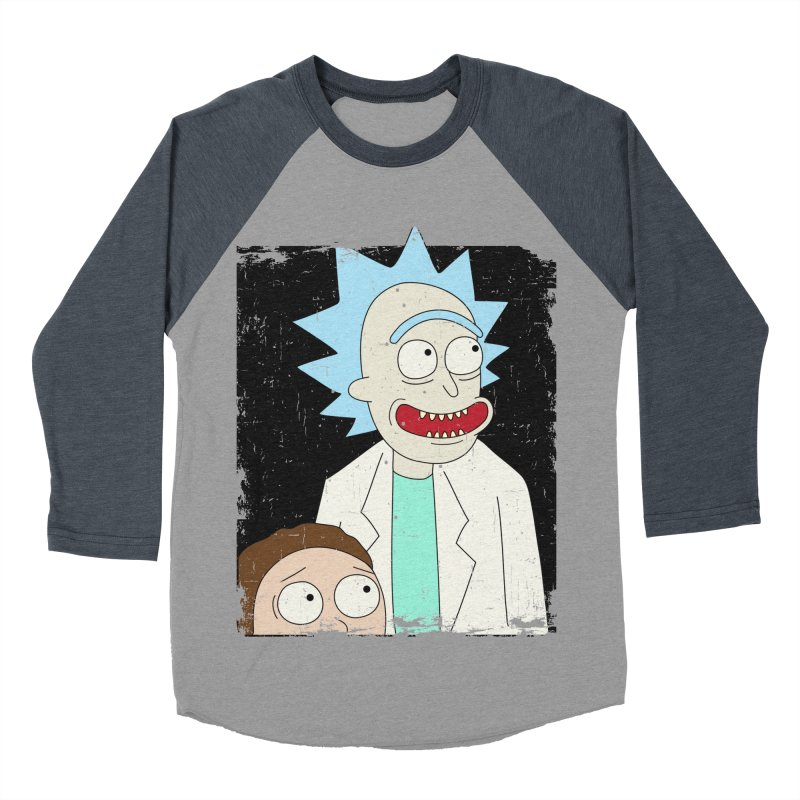 Rick and Morty Portrait Men's Baseball Triblend T-Shirt by Diardo's Design Shop