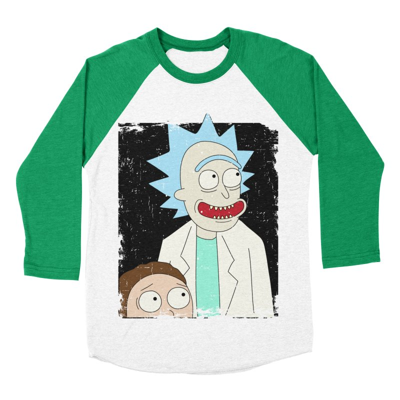 Rick and Morty Portrait Men's Baseball Triblend Longsleeve T-Shirt by Diardo's Design Shop