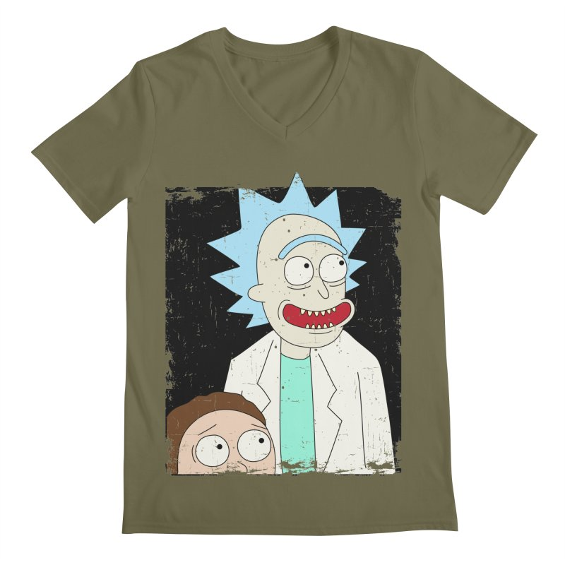 Rick and Morty Portrait Men's V-Neck by Diardo's Design Shop