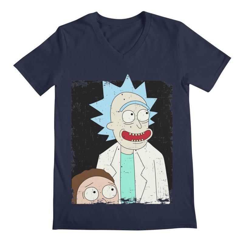 Rick and Morty Portrait Men's Regular V-Neck by Diardo's Design Shop