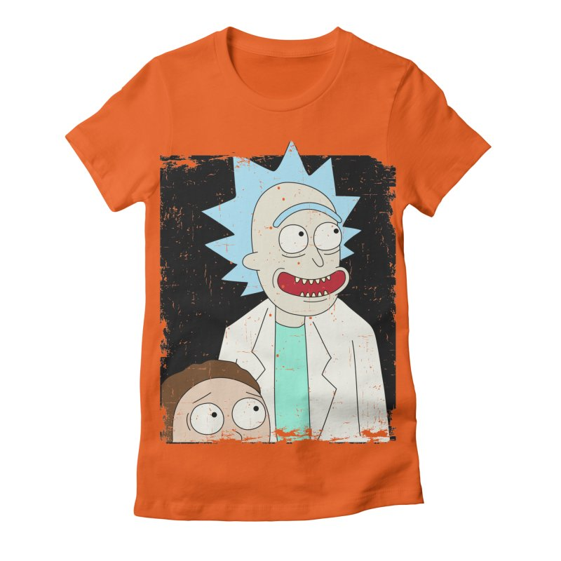 Rick and Morty Portrait Women's Fitted T-Shirt by Diardo's Design Shop