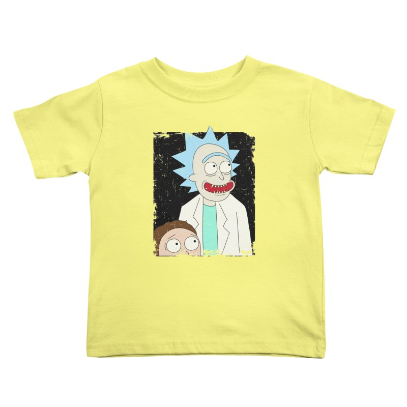 Rick and Morty Portrait Kids Toddler T-Shirt by Diardo's Design Shop