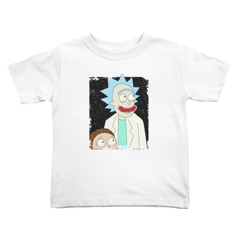 Rick and Morty Portrait Kids Toddler T-Shirt by Diardo's Design Shop