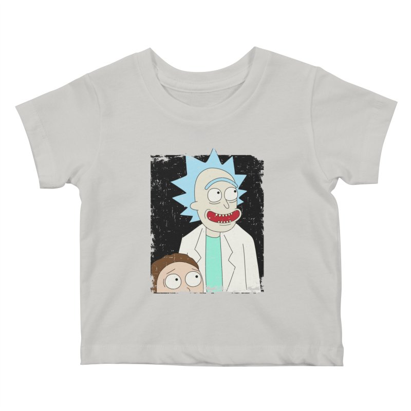 Rick and Morty Portrait Kids Baby T-Shirt by Diardo's Design Shop