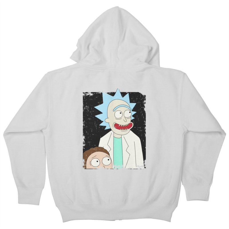 Rick and Morty Portrait Kids Zip-Up Hoody by Diardo's Design Shop