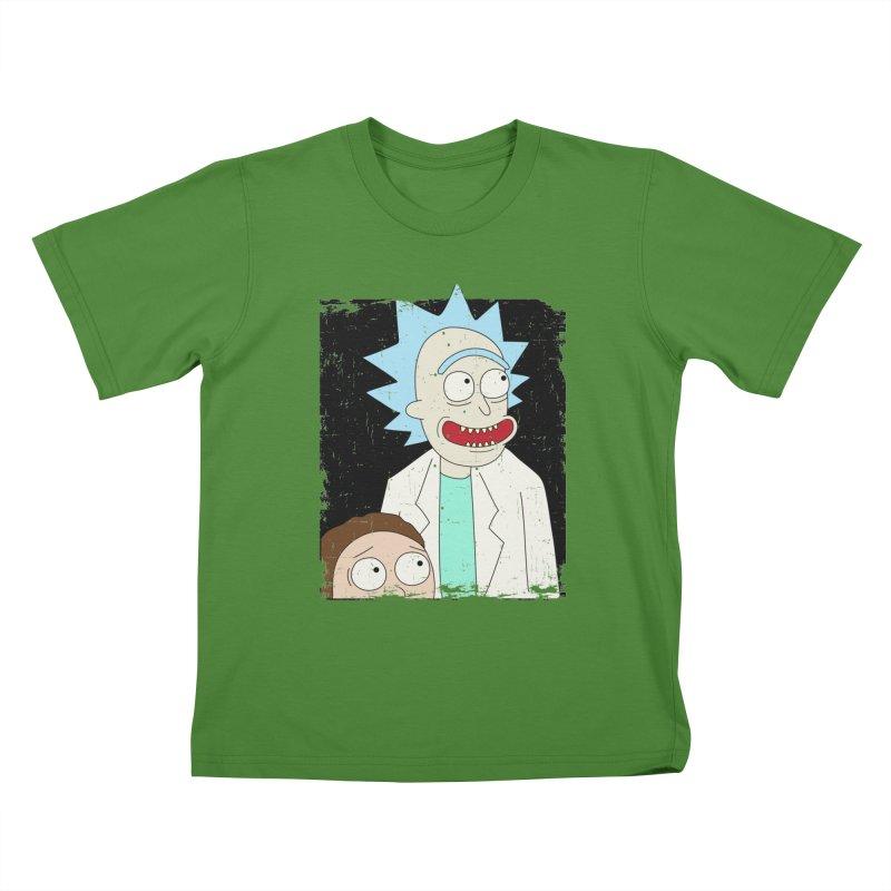 Rick and Morty Portrait Kids T-shirt by Diardo's Design Shop