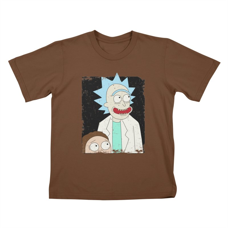 Rick and Morty Portrait Kids T-Shirt by Diardo's Design Shop