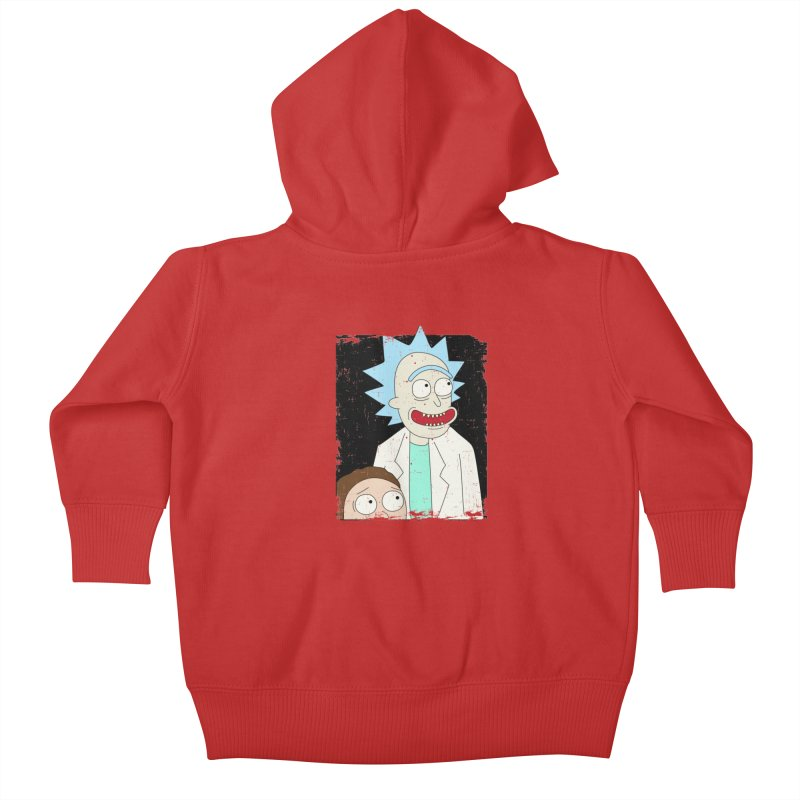 Rick and Morty Portrait Kids Baby Zip-Up Hoody by Diardo's Design Shop
