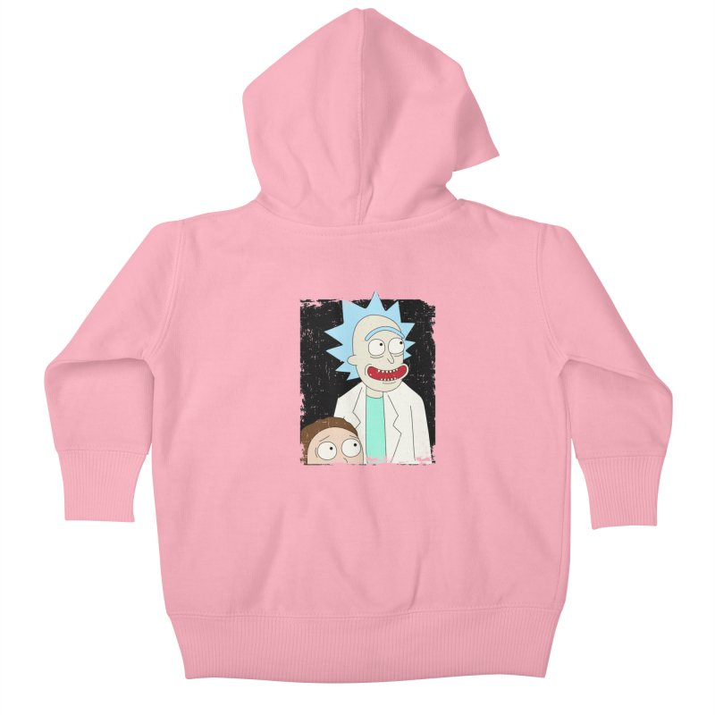 Rick and Morty Portrait Kids Baby Zip-Up Hoody by Diardo's Design Shop