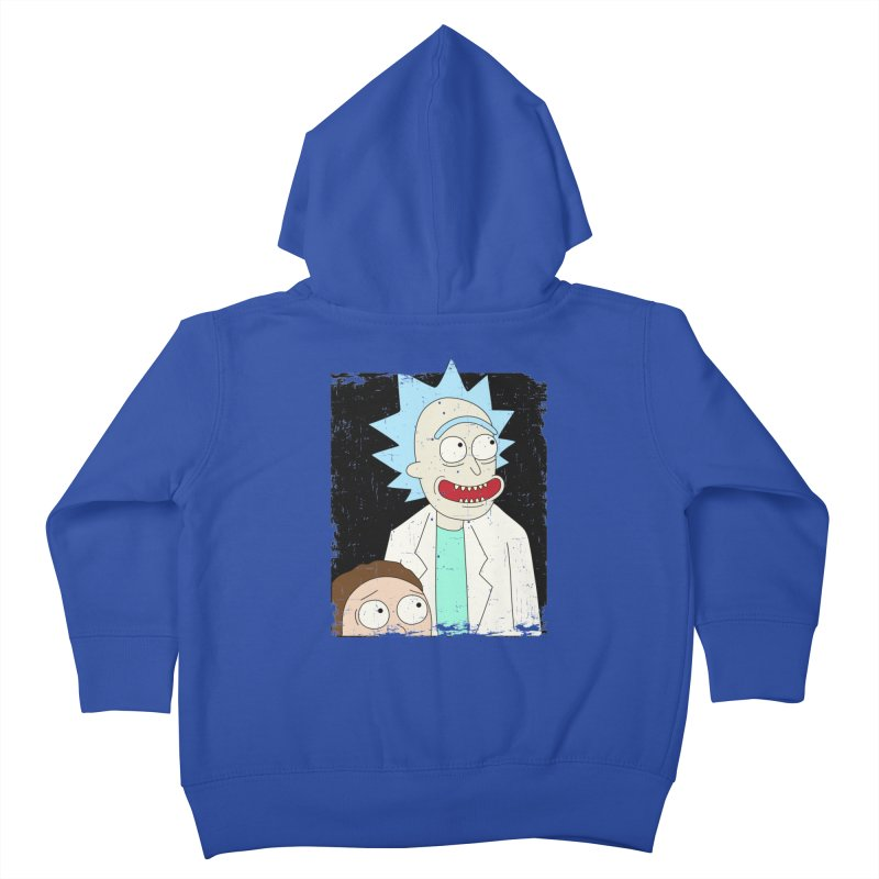 Rick and Morty Portrait Kids Toddler Zip-Up Hoody by Diardo's Design Shop