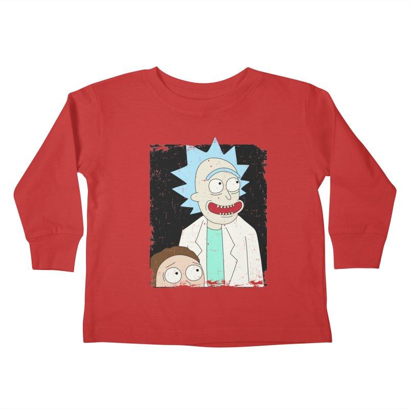Rick and Morty Portrait Kids Toddler Longsleeve T-Shirt by Diardo's Design Shop
