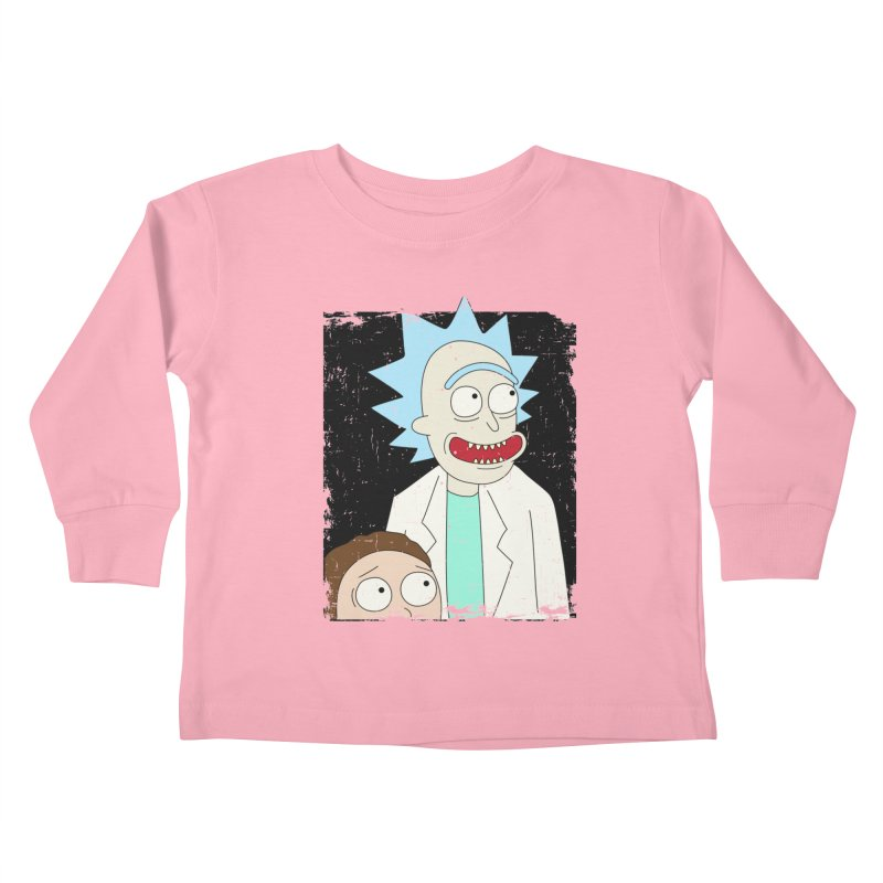 Rick and Morty Portrait Kids Toddler Longsleeve T-Shirt by Diardo's Design Shop