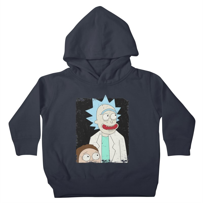 Rick and Morty Portrait Kids Toddler Pullover Hoody by Diardo's Design Shop