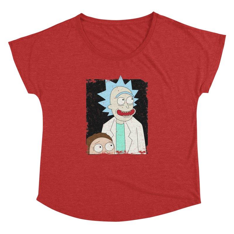 Rick and Morty Portrait Women's Dolman Scoop Neck by Diardo's Design Shop