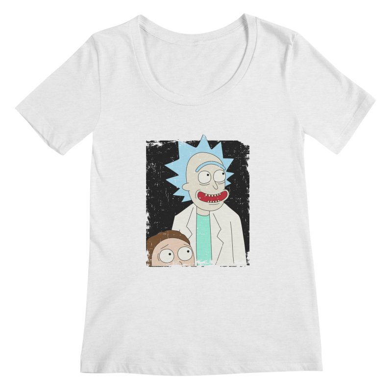 Rick and Morty Portrait Women's Regular Scoop Neck by Diardo's Design Shop