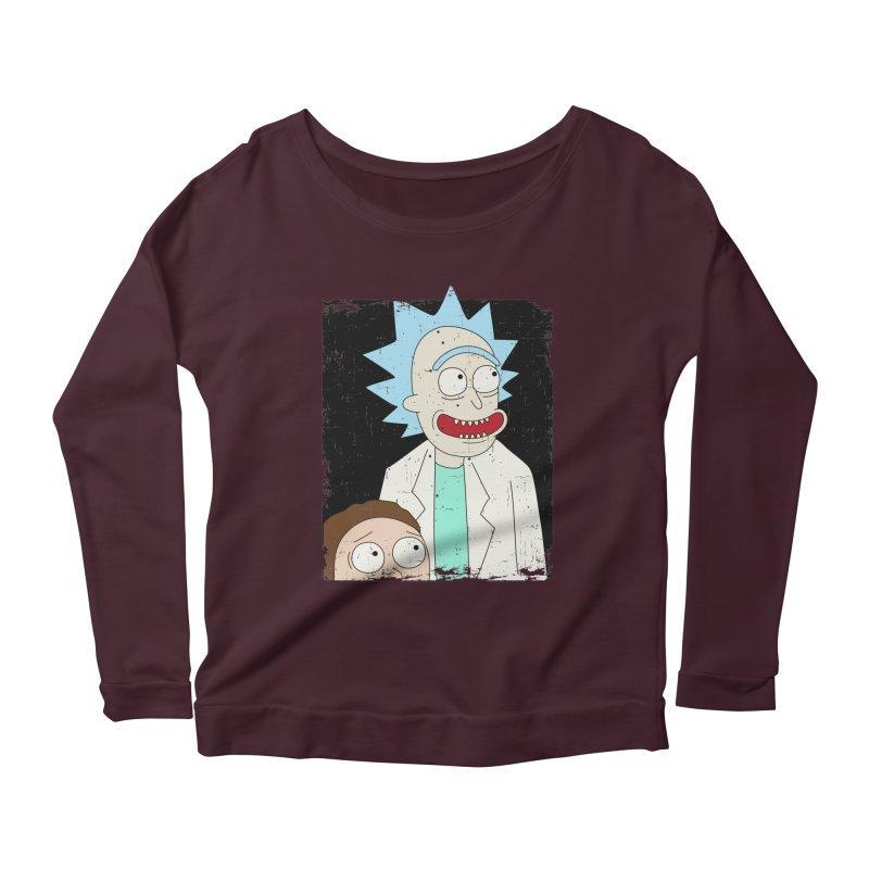 Rick and Morty Portrait Women's Scoop Neck Longsleeve T-Shirt by Diardo's Design Shop
