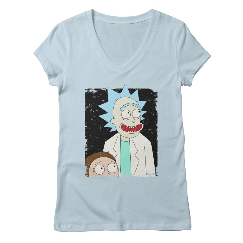 Rick and Morty Portrait Women's Regular V-Neck by Diardo's Design Shop