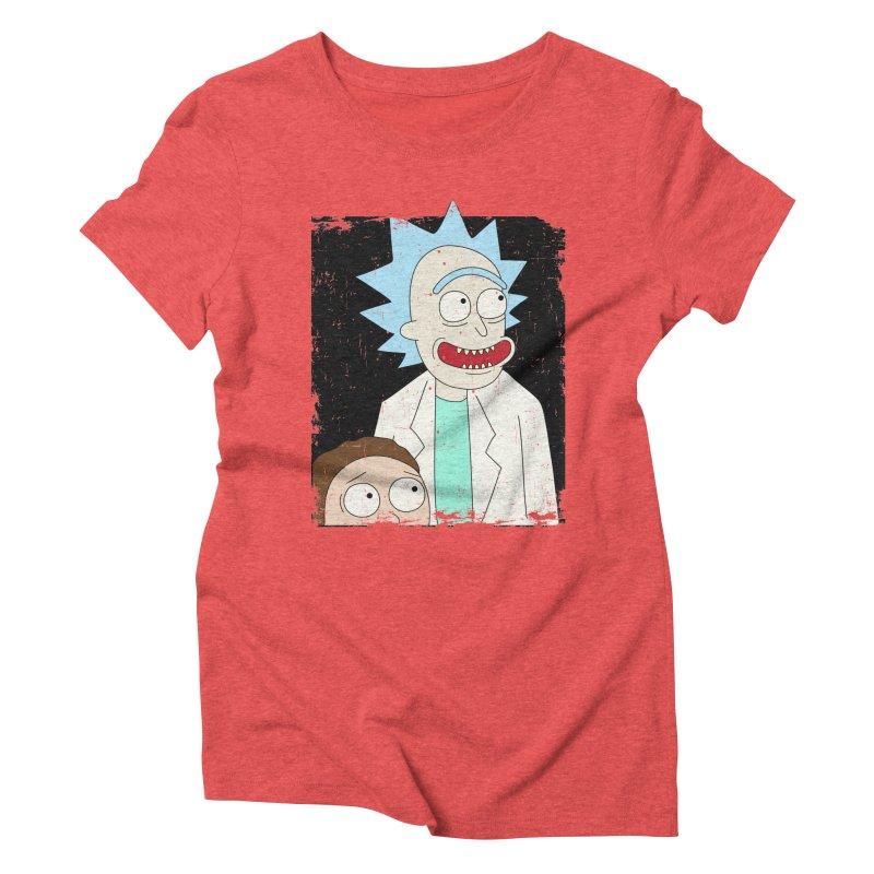 Rick and Morty Portrait Women's Triblend T-Shirt by Diardo's Design Shop