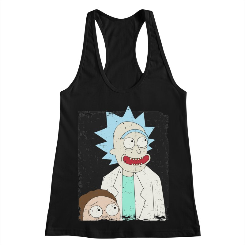 Rick and Morty Portrait Women's Racerback Tank by Diardo's Design Shop
