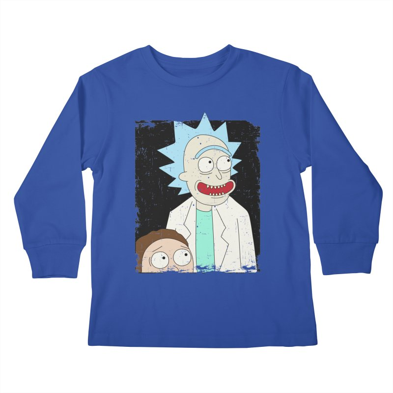 Rick and Morty Portrait Kids Longsleeve T-Shirt by Diardo's Design Shop