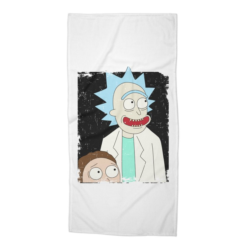 Rick and Morty Portrait Accessories Beach Towel by Diardo's Design Shop