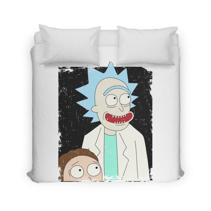 Rick and Morty Portrait Home Duvet by Diardo's Design Shop