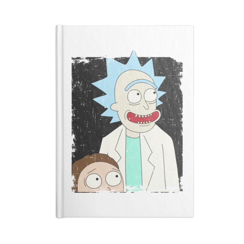 Rick and Morty Portrait Accessories Lined Journal Notebook by Diardo's Design Shop