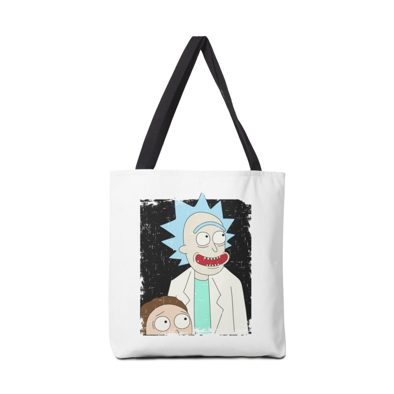 Rick and Morty Portrait Accessories Tote Bag Bag by Diardo's Design Shop