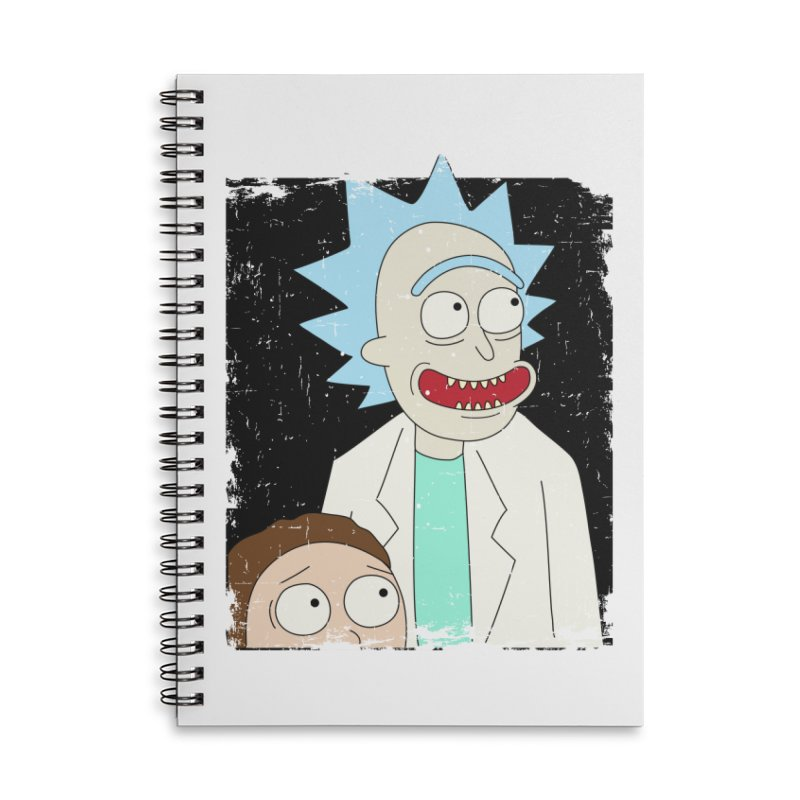 Rick and Morty Portrait Accessories Lined Spiral Notebook by Diardo's Design Shop