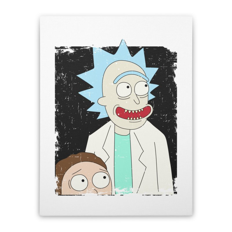 Rick and Morty Portrait Home Stretched Canvas by Diardo's Design Shop