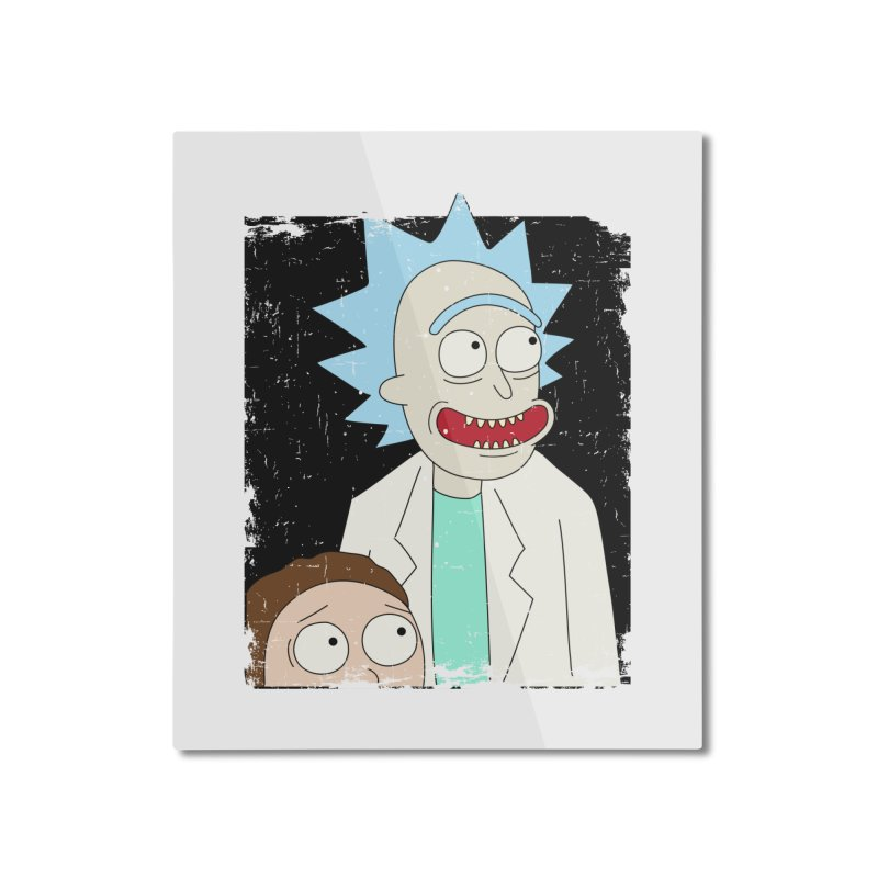 Rick and Morty Portrait Home Mounted Aluminum Print by Diardo's Design Shop